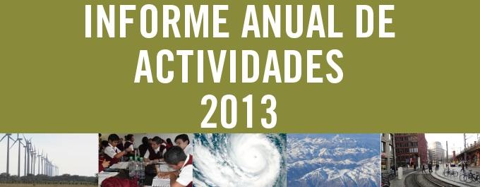Informe Anual de Actividades 2013