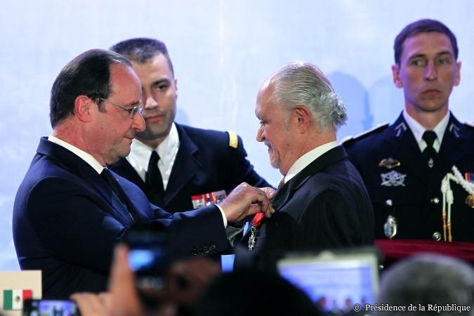 Dr. Molina y Presidente Hollande