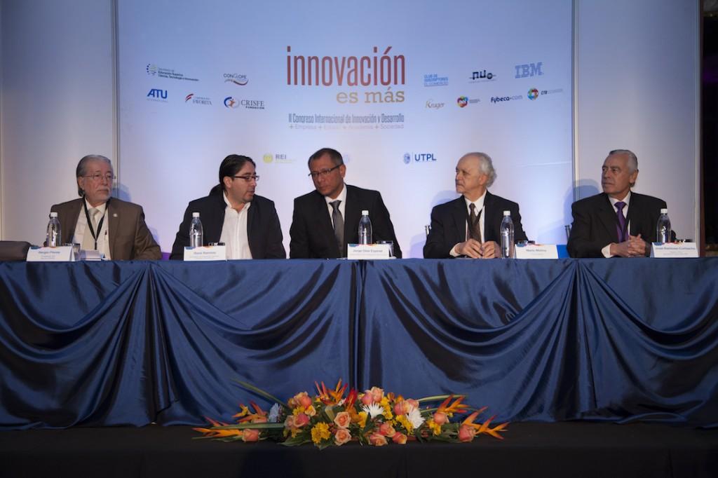 InauguraciónCongreso_ Vicepresidente Jorge Glas; René Ramírez, Secretario Nacional