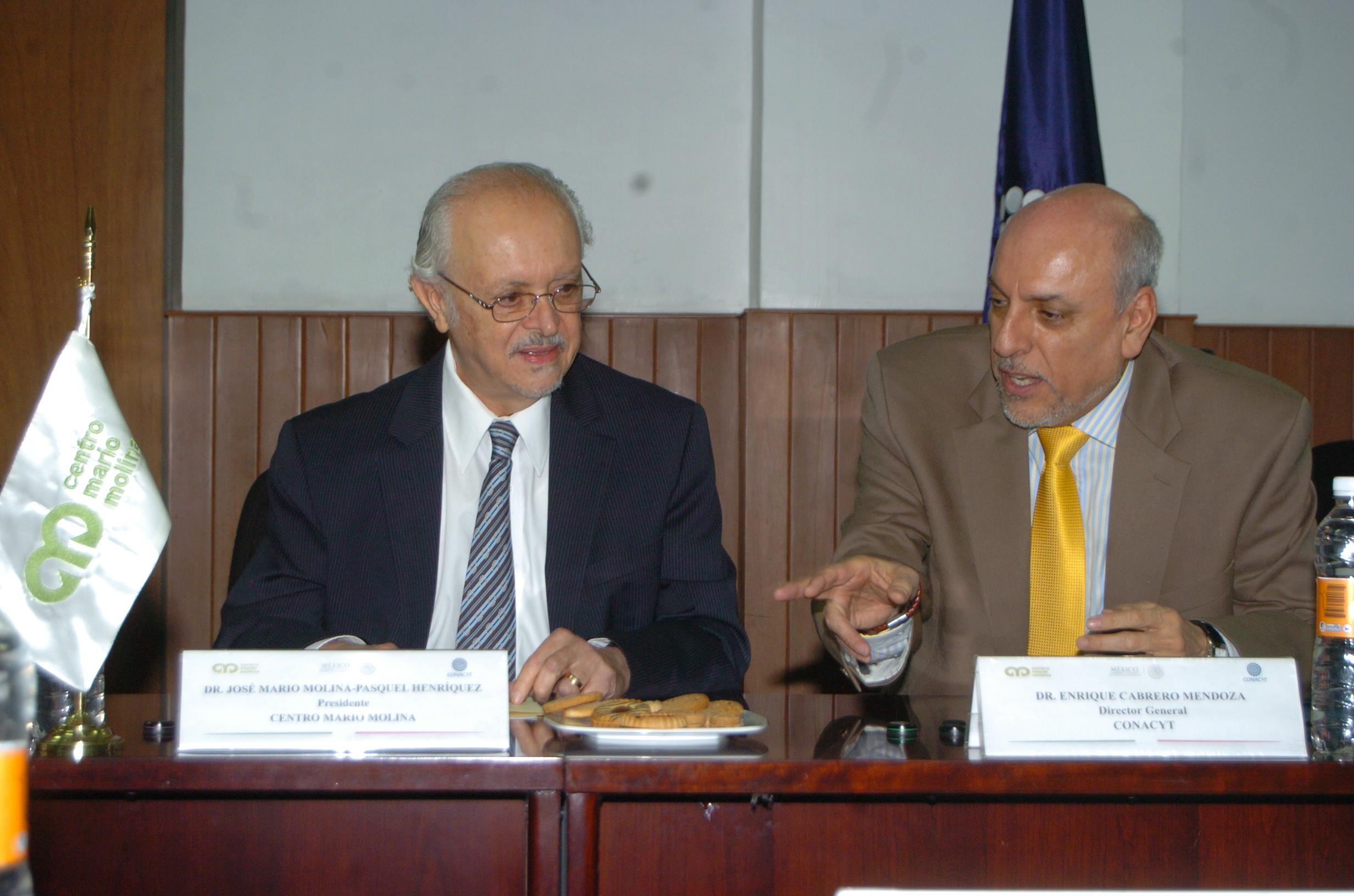 Dr. Mario Molina y Dr. Enrique Cabrero