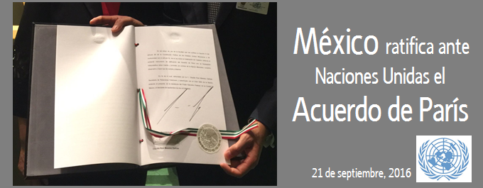 México ratifica el Acuerdo de París