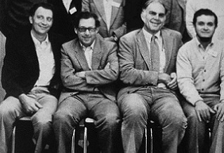 (Left to right) Ralph Cicerone, Paul Crutzen, Sherwood Rowland and Mario Molina, in Berlin, 1982. Courtesy of Rowland Collection.